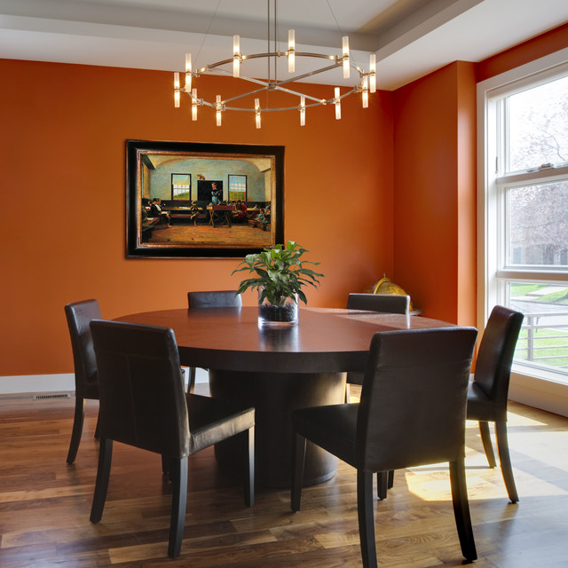 Beau Example Of A Transitional Dining Room Design In Wichita