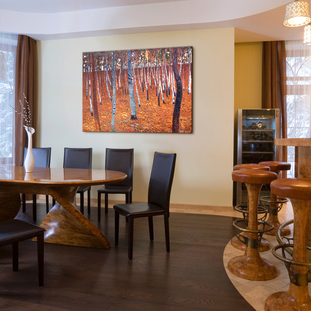 Oil paintings for dining rooms contemporary dining for Kitchen dining room wall decor