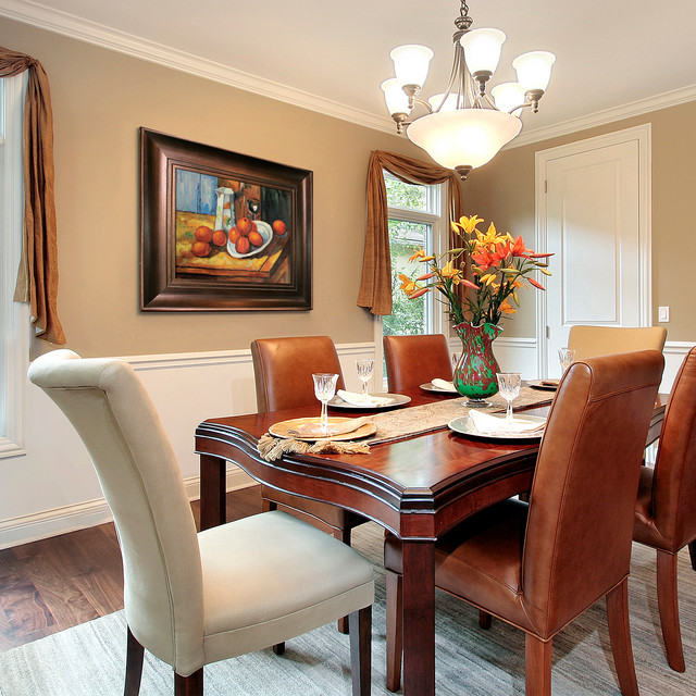 Captivating Oil Paintings For Dining Rooms Traditional Dining Room
