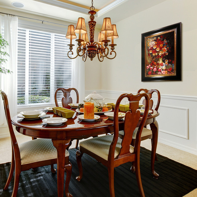 oil paintings for dining rooms - traditional - dining room