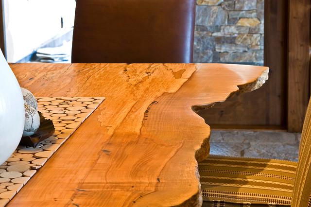 Okanagan Log Home contemporary-dining-room