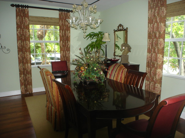 Old Florida style dining room eclectic-dining-room
