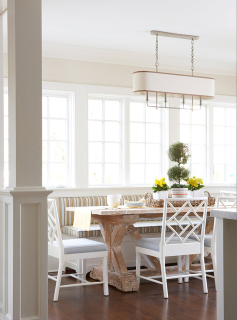 Old Greenwich Beach Cottage Style Dining Room By MuseInteriors