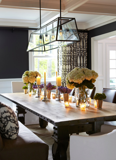 Old westbury neoclassical transitional dining room for Neoclassical dining room design