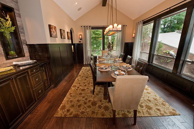 Old World Chisel- Machu Picchu traditional-dining-room