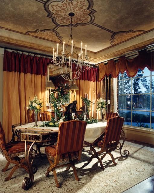 Old world dining room mediterranean dining room for Old world dining room ideas