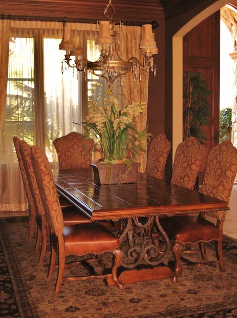 Old World Eclectic Traditional Dining Room San Diego
