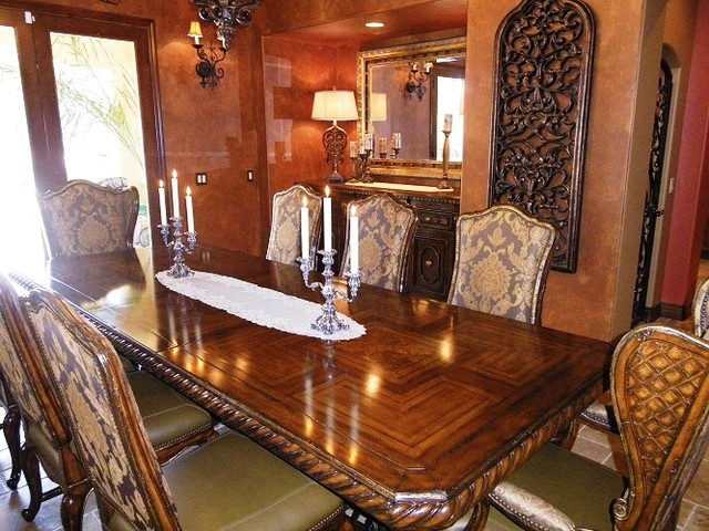 Old World Estate Traditional Dining Room San Diego