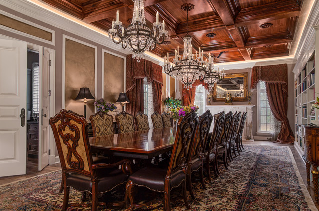Old World European Remodel Traditional Dining Room