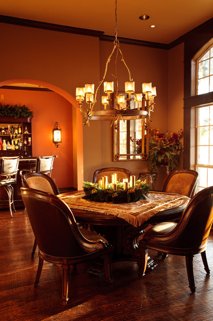 Old World Remodel With Holiday Traditional Dining Room