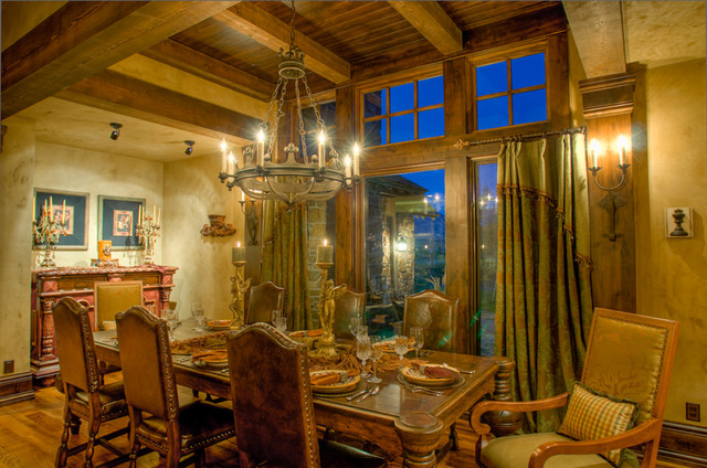 Old World Residence Mediterranean Dining Room Other