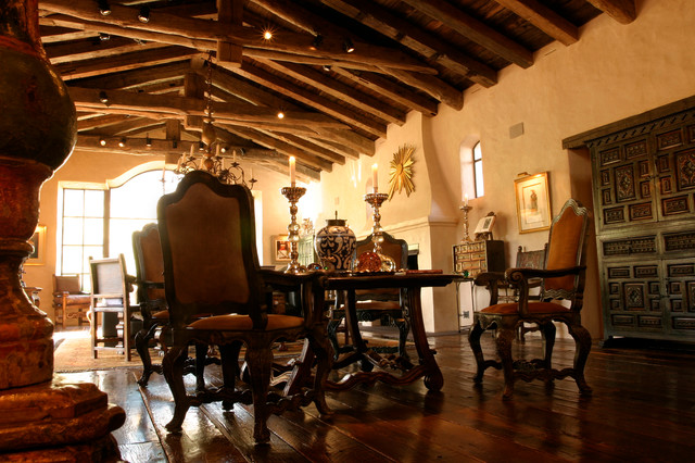 Old World Spanish Kitchen Traditional Dining Room