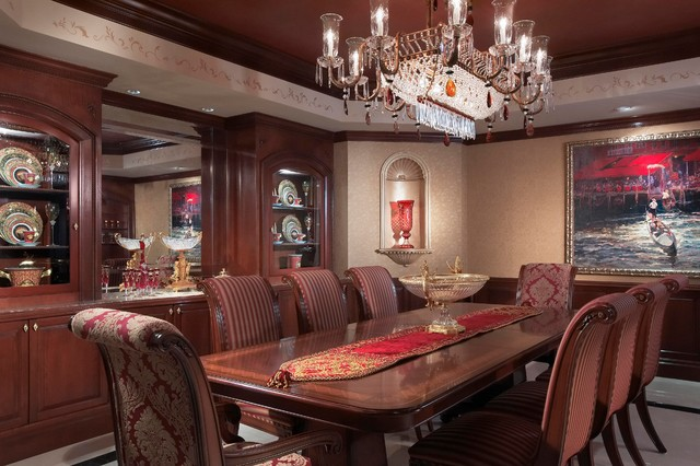 Old world style traditional dining room other metro for Old world dining room ideas