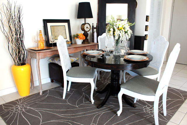 One Dining 3 Different Looks eclectic-dining-room