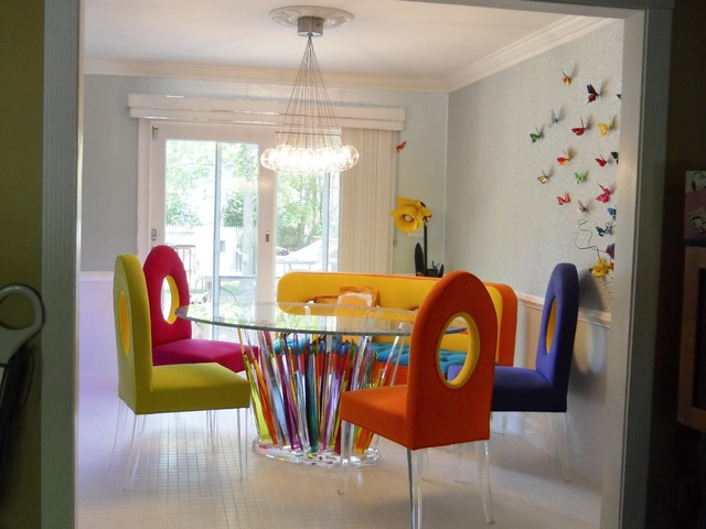 One Of A Kind Dining Room Set Eclectic Dining Room