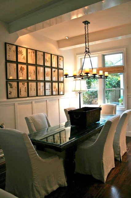 open and airy dining room eclectic dining room