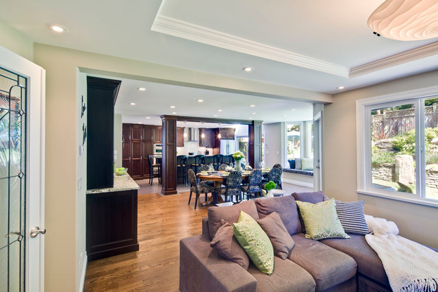 Open Concept Living Room, Dining Room, & Kitchen ...