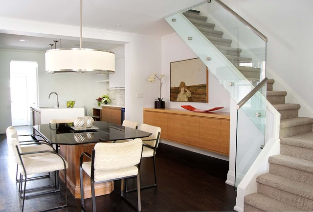 Open Concept Space Contemporary Dining Room