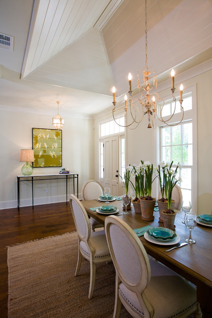 Open dining area is perfect for entertaining! traditional-dining-room