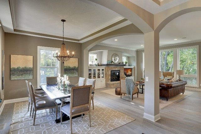 Open floor plan coyote song model fall parade 2014 - Open floor plan kitchen living room dining room ...