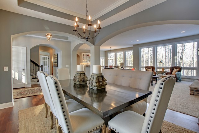 plan discover crossing model home transitional dining room formal