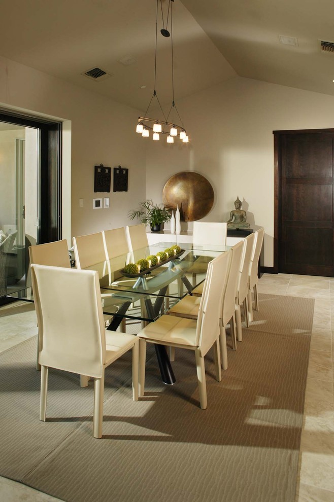 Example of a trendy kitchen/dining room combo design in Sacramento