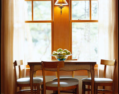 Orcas Island Cabin rustic-dining-room