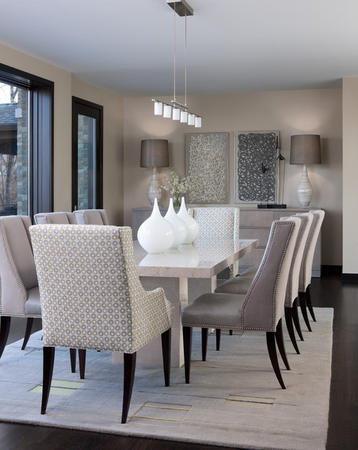 Orchard Lake Residence - Contemporary - Dining Room ...