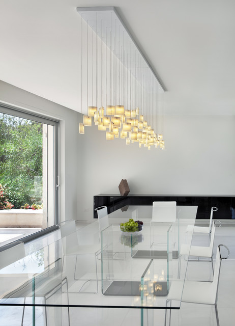 orchids chandelier -galilee lighting, contemporary dining room