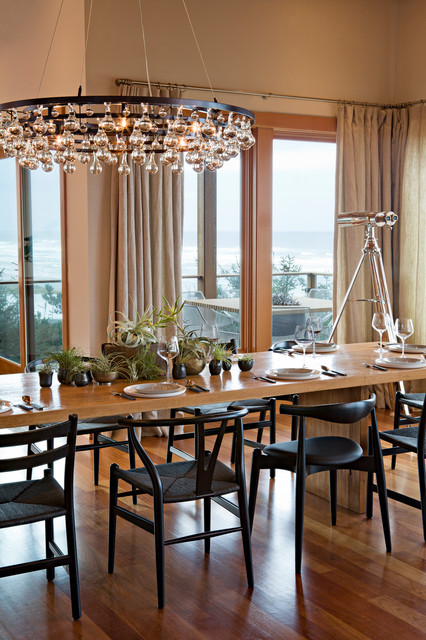 Oregon Coast Home Contemporary Dining Room Portland