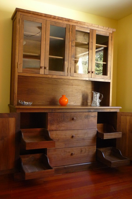 Dining Room Hutch Accessories Orland Walnut Traditional Other