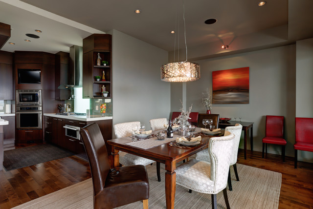 Our kelowna b c showhome project contemporary dining for Dining room tables kelowna