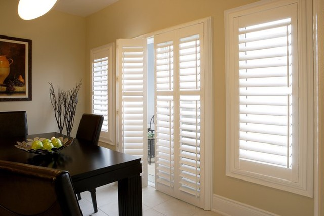 Our window treatments for Modern dining room window treatments