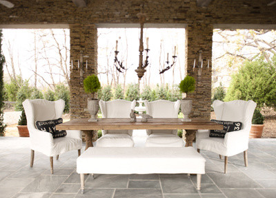 outdoor dining eclectic dining room