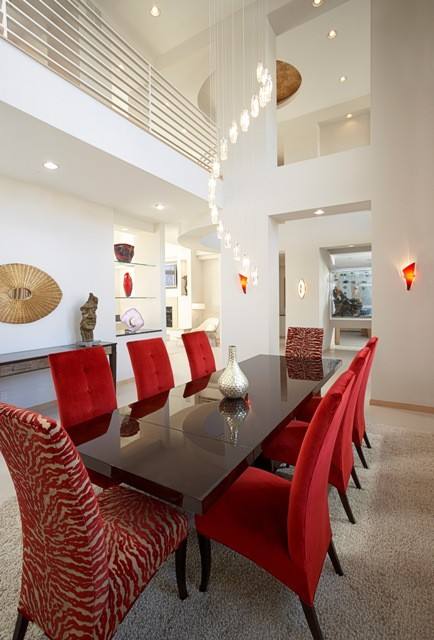 Overlook Drive Residence Dining Room modern-dining-room