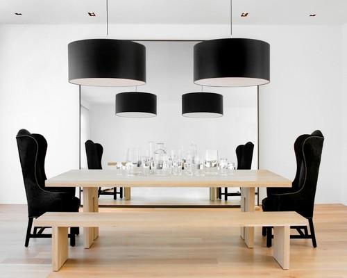 modernizm-stolovaya Как использовать зеркала в интерьере?