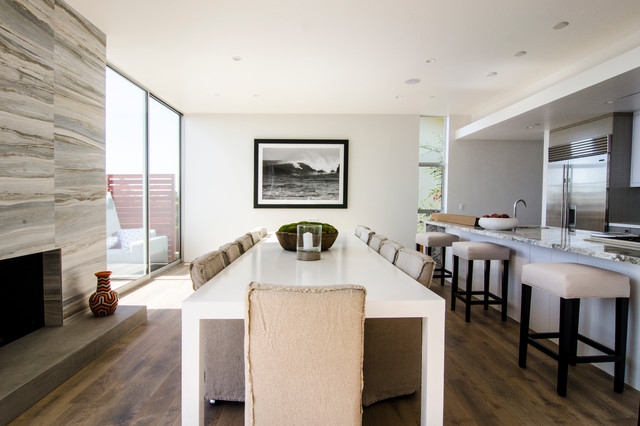 Pacific Palisades Ca Beach Style Dining Room Los Angeles By Lisa Bell Design Group