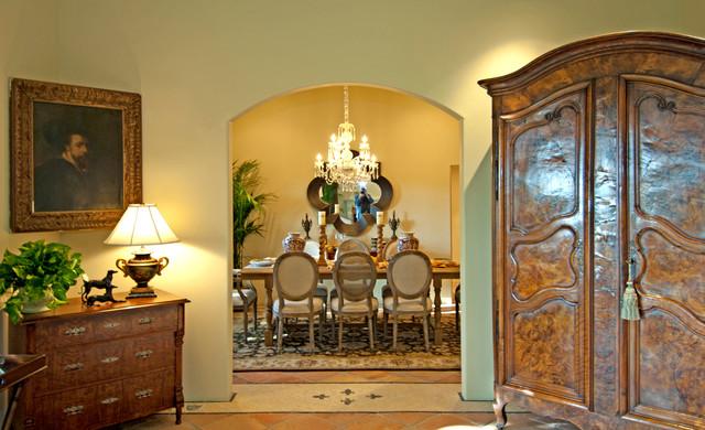 Pacific Palisades Italian Villa mediterranean-dining-room