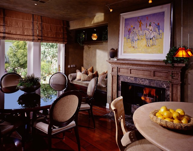 Painted Marbles / Faux Stone, Stone columns and Mantles traditional-dining-room