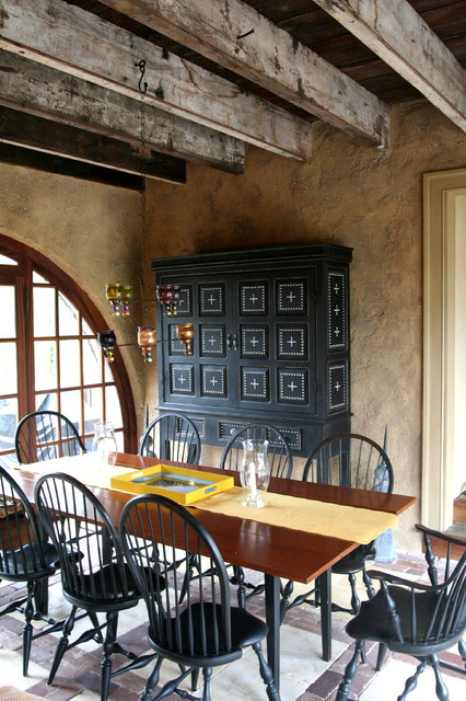 painted walls - Rustic - Dining Room - new york - by pcw painted furniture