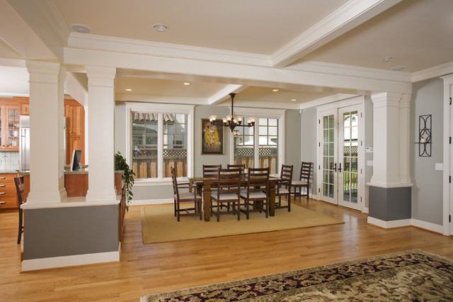 Palo alto craftsman craftsman dining room san for Craftsman style rooms