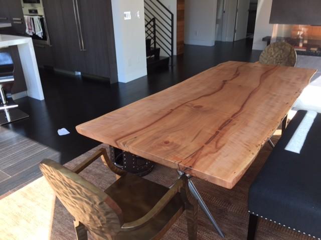 Palo alto madrone live edge dining table contemporary - Houzz palo alto ca ...