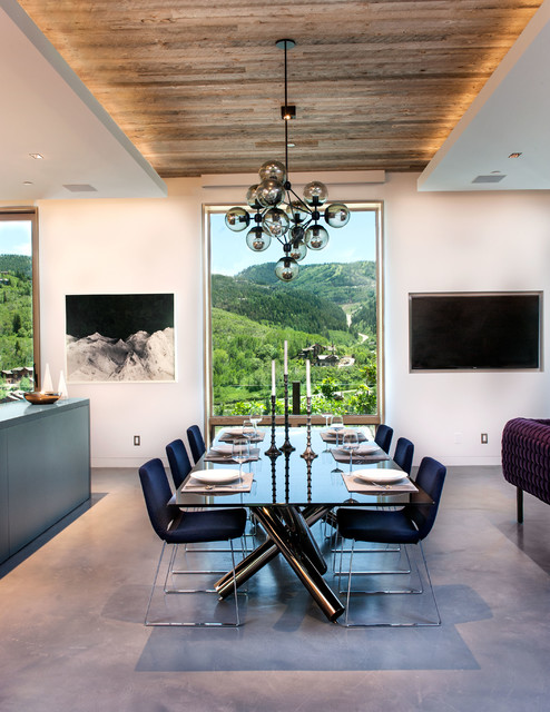 Park City Modern contemporary-dining-room