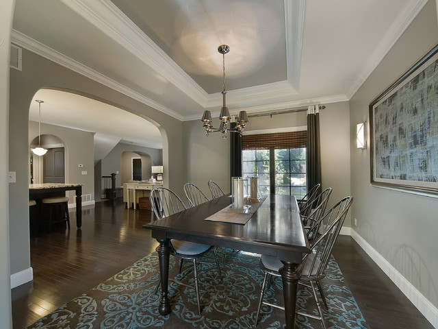 dining room gray. park hill renovation traditionaldiningroom dining room gray