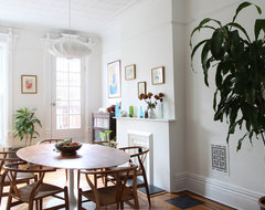 Park Slope brownstone contemporary dining room