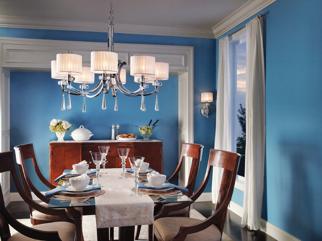 Wall Sconces In Dining Room : Parker Point Wall Sconce and Chandelier from Kichler Lighting - Dining Room - by 1800Lighting