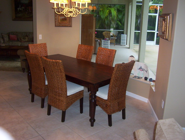 Parson Dining Chairs Wicker