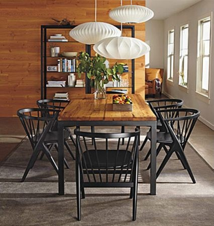 parsons dining table and soren chairs by r b modern