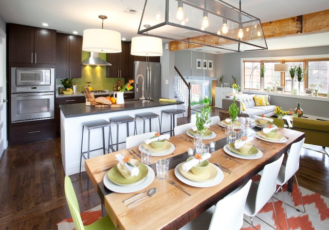 Pasquella kitchen and dining transitional dining room for Genevieve gorder kitchen designs