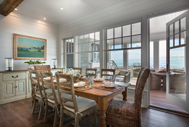 Pawleys Island Oceanfront Home Beach Style Dining Room